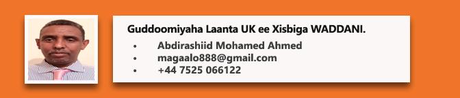 • Abdirashiid Mohamed Ahmed