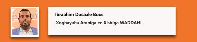 Ibraahim Ducaale Boos