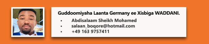 • Abdisalaam Sheikh Mohamed