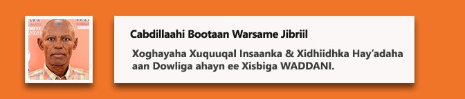 Cabdillaahi Bootaan Warsame Jibriil